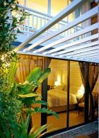 ออกแบบระแนงเหล็กทำซุ้มสวน หน้าห้องนอน