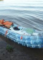 เรือแคนู ทำจากขวดน้ำ ใช้งานได้จริง