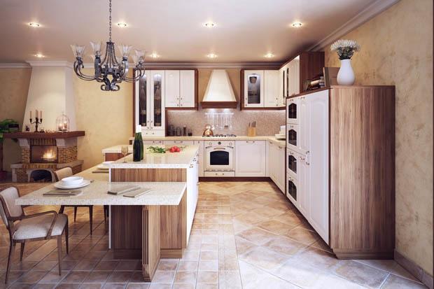 ห้องครัวสีขาวสวยๆ