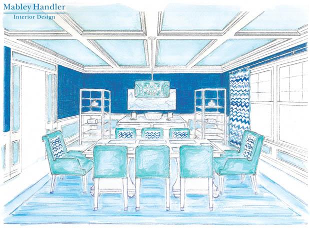 ภาพวาดห้องรับประทานอาหาร