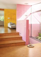 ทาสีผนังบ้าน สีชมพู สีทาบ้าน