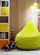 ชั้นวางหนังสือสีเหลือง