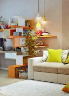 แบบห้องทำงานสีส้ม