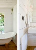 แต่งห้องน้ำขนาดเล็กสีขาว