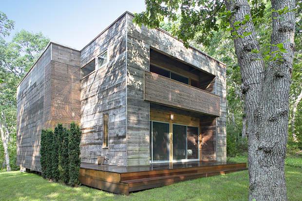 บ้านทรงกล่อง สร้างจากไม้ สวยดี