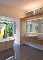 แบบห้องน้ำสบาย กว้างๆ ทั้งภายในและกลางแจ้ง