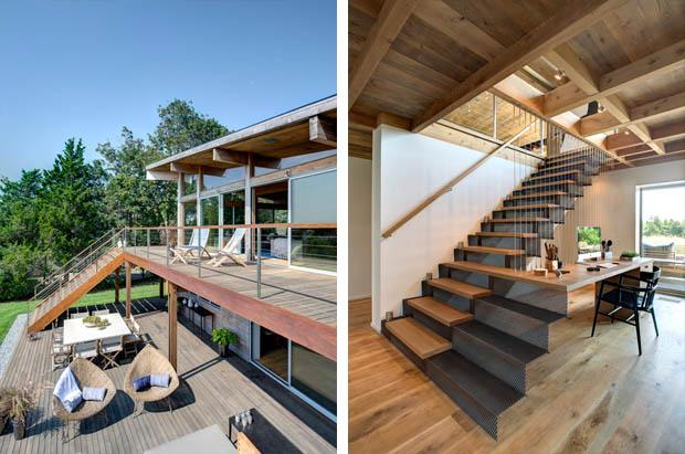 ระเบียงบ้านไม้ บันไดบ้านไม้ ออกแบบสวย