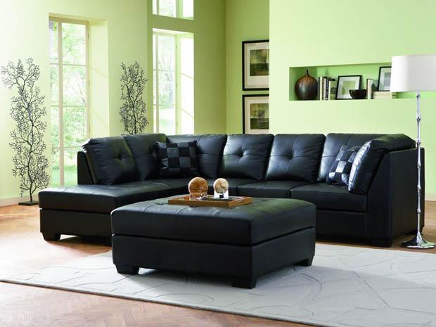 ตกแต่งห้องรับแขกด้วยโซฟาสีดำ บ้านไอเดีย เว็บไซต์เพื่อบ้านคุณ
