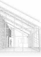 ออกแบบหลังคาระแนง ระเบียงหน้าบ้าน