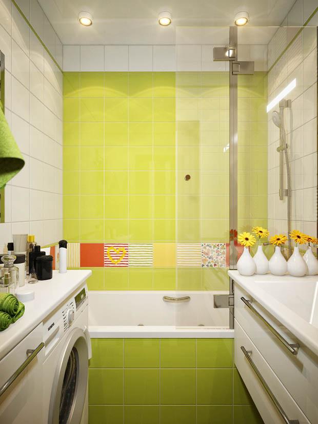 อ่างอาบน้ำสีเขียว