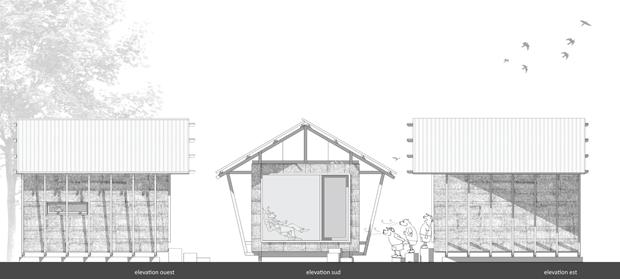 แปลนบ้าน กระท่อมไม้ สวยงาม น่าอยู่
