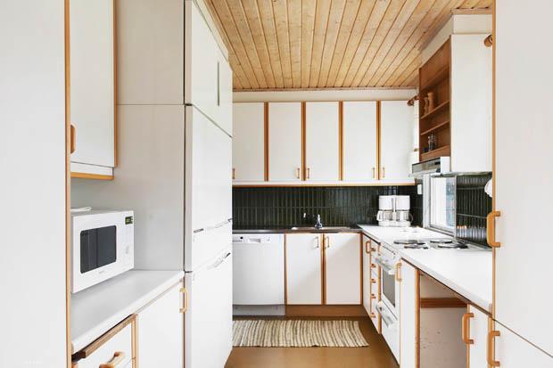 เคาเตอร์ครัวไม้สีขาว
