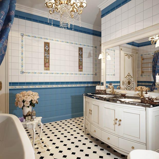 ห้องน้ำสไตล์คลาสสิคสวยๆ