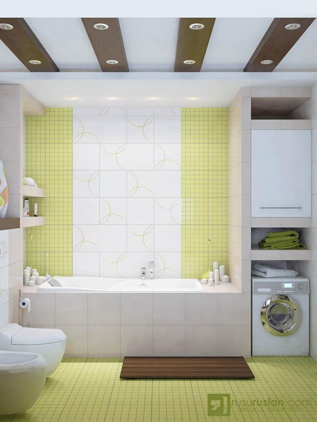 กระเบื้องแผ่นเล็กปูพื้นห้องน้ำ