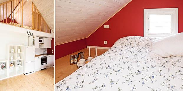 แบบบ้านชั้นครึ่ง ห้องนอนใต้หลังคา