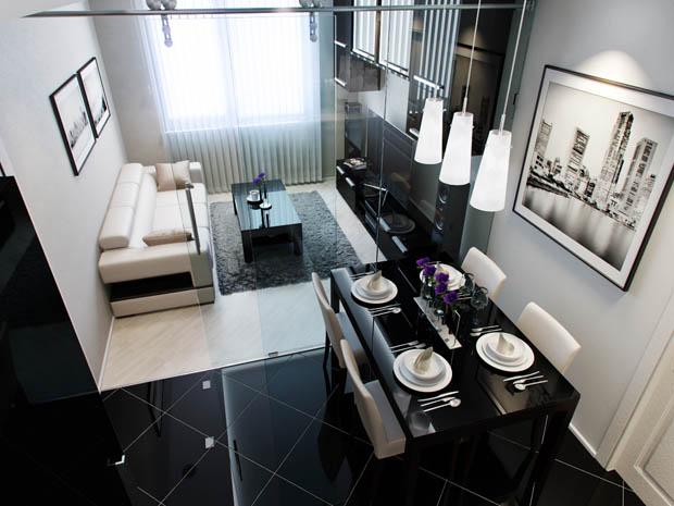 แต่งห้องครัวสีดำ