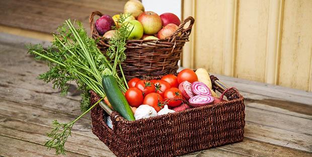 กระถางใส่ผักผลไม้