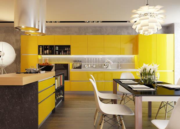 - Decoracion en amarillo ...