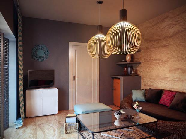 โคมไฟแขวน แบบรังนก แต่งห้องสวยๆ