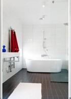 ตกแต่งห้องน้ำสีขาวดำ