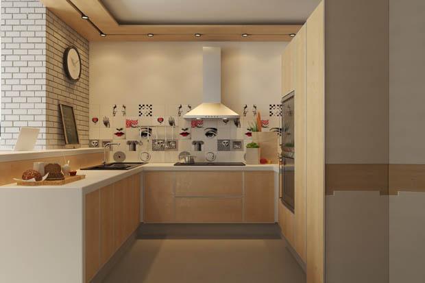 ห้องครัวเล็กๆในคอนโดมิเนียม