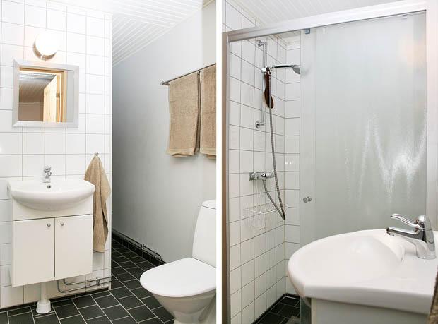 ห้องน้ำขนาดเล็กและแคบ