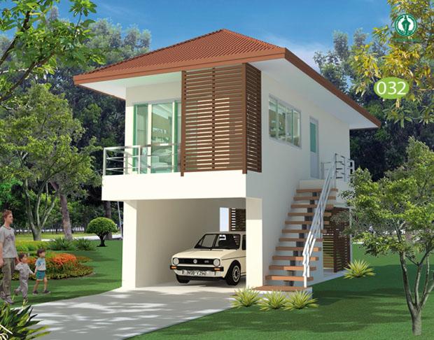 แบบบ้านฟรี 2 ชั้น 1 ห้องนอน 1 ห้องน้ำ