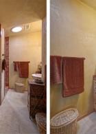 ตกแต่งห้องน้ำ เล็กๆ ใช้สี ซีเมนต์