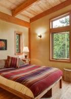 เพดานห้องนอนสวย ทำจากไม้