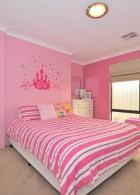 ห้องนอนน่ารัก สีชมพูขาว