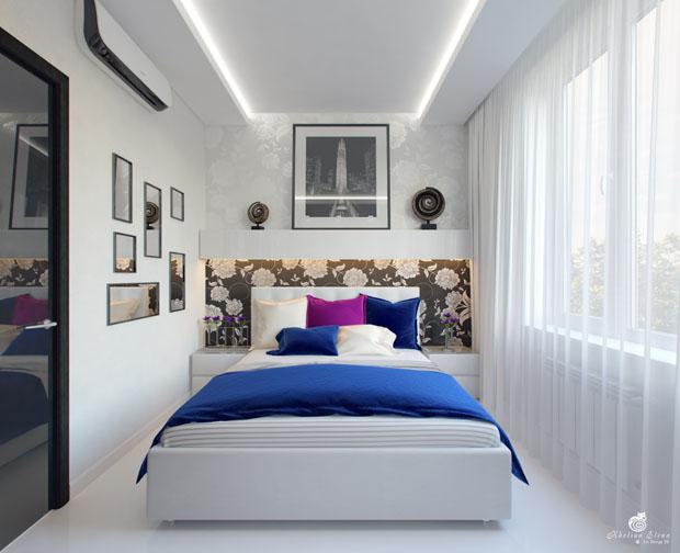 ฝ้าเพดานห้องนอน แบบหลุม ซ่อนไฟ