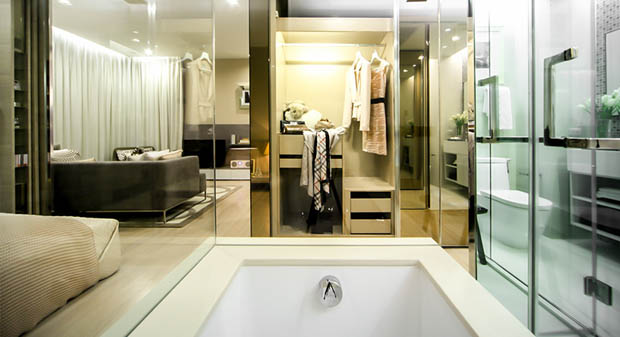 ตกแต่งห้องน้ำในคอนโด