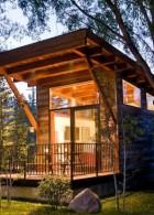 แบบบ้านไม้ ยกพื้นหลังเล็กๆ แนวรีสอร์ท