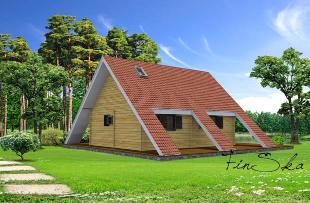 รูปบ้านชั้นครึ่ง บ้านไม้ หลังคากระเบื้อง