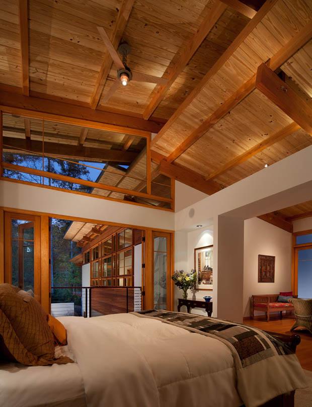 เพดานห้องนอน เพดานไม้
