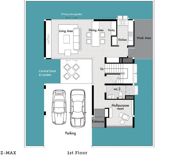 โครงการบ้านเดี่ยว Zenmura แปลนบ้าน 2 ชั้น