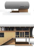 โมเดลบ้าน 3D บ้านยกพื้น มีใต้ถุน