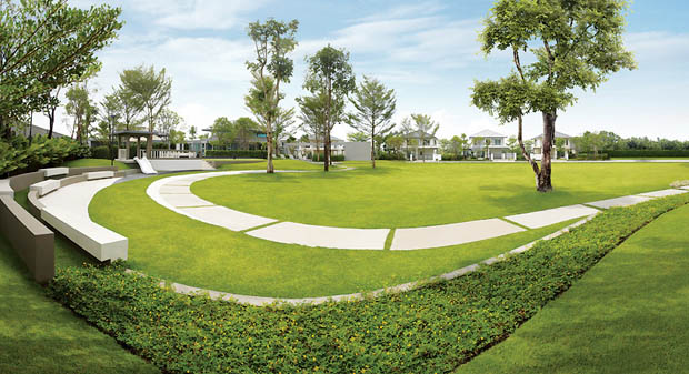 สวนสาธารณะ ภายในหมู่บ้านจัดสรร