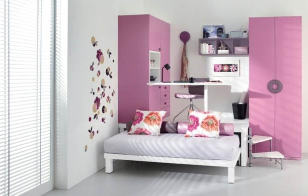ห้องนอนสีชมพู ห้องเล็กๆ แต่งน่ารัก