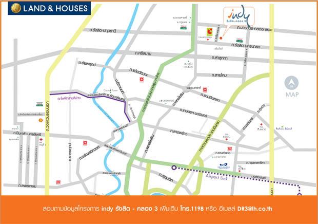 แผนที่ ทางไป Indy Land and House รังสิต คลอง3