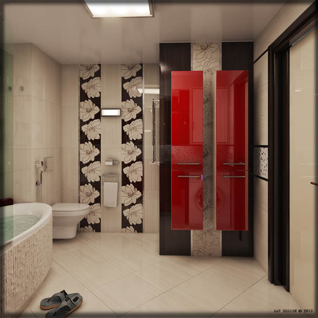 ตู้อาบน้ำสีแดง