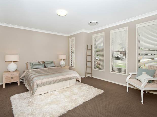 ห้องนอน สีเทา Contemporary
