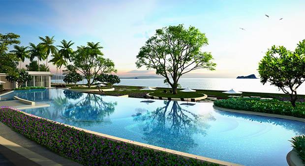 สระว่ายน้ำ ติดชายหาด คอนโดหัวหิน