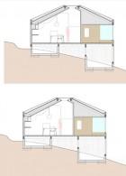 แปลนบ้านไม้ บนเนินเขา