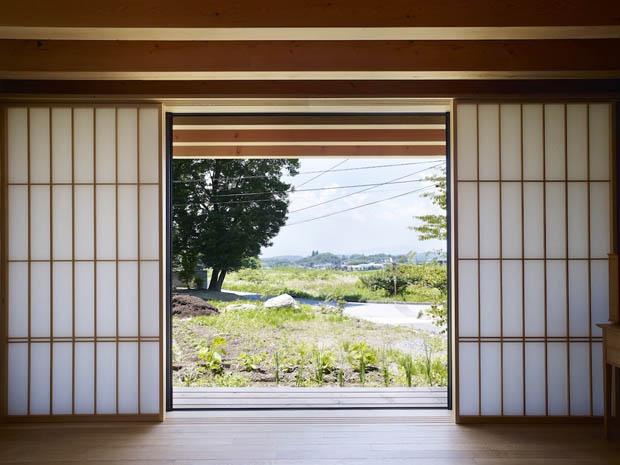 ผนังโชจิ บ้านสไตล์ญี่ปุ่น