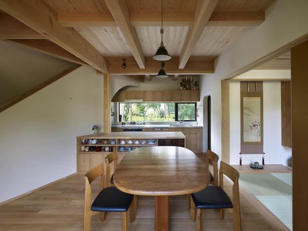 โต๊ะอาหาร โต๊ะไม้ แบบญี่ปุ่น