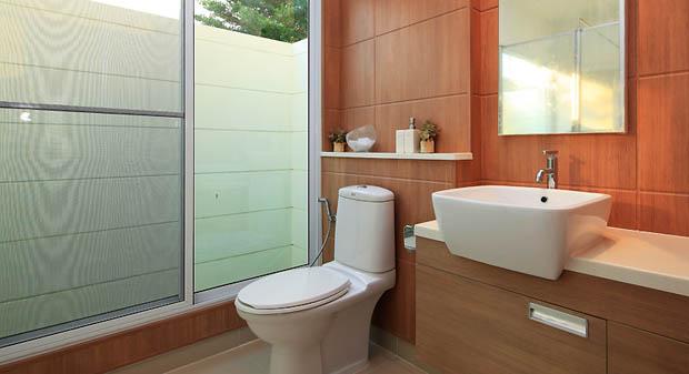 แต่งห้องน้ำ บ้านจัดสรร