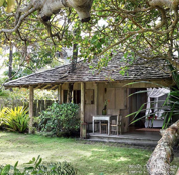แบบบ้านไม้โบราณ สวยๆ หลังเล็ก