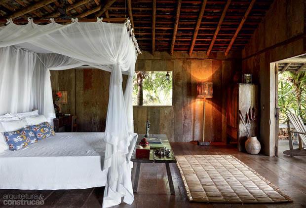 ห้องนอน เตียงมีมุ้ง