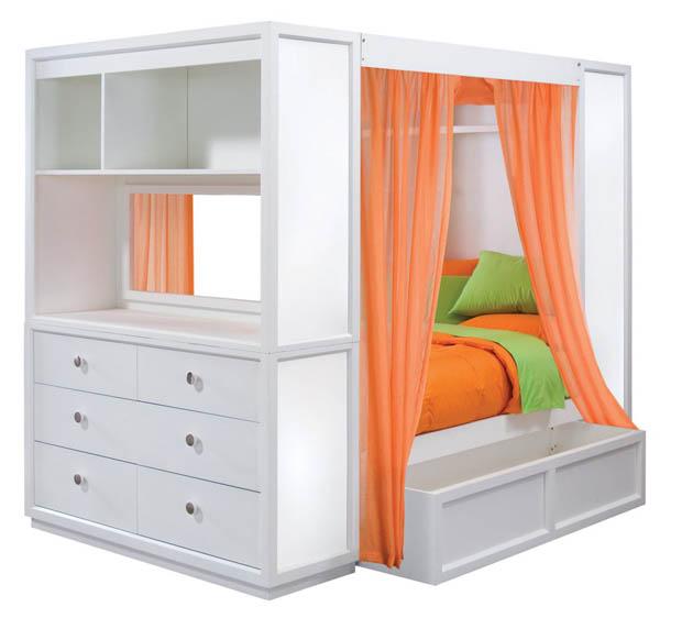 ออกแบบเตียงนอน ในห้องนอนแคบ